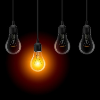 Verlichting lamp illustratie