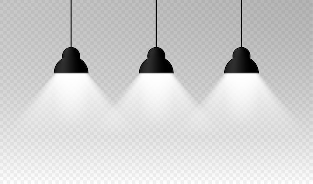 Verlichting lamp lege ruimte. illustratie.