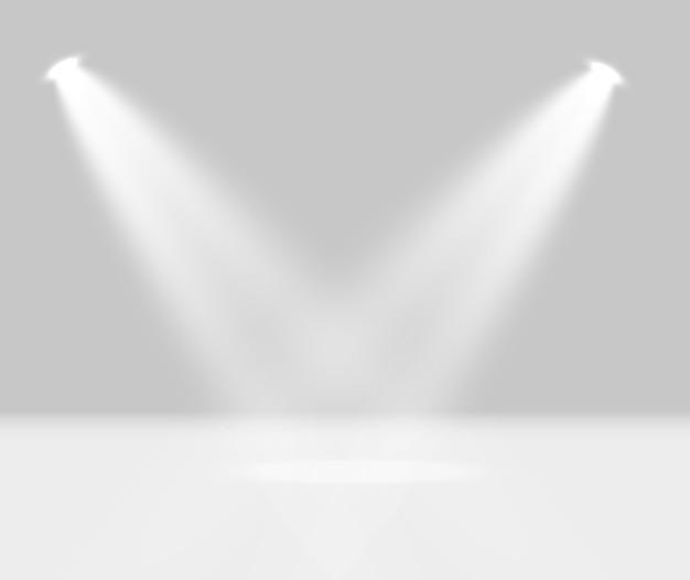 Verlichting voor prijsuitreiking, podium, voetstuk. spotlight.