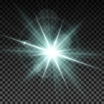 Verlichtingsvonk vectorillustratie