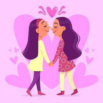 Verliefde meisjes