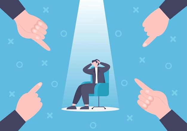 Verlies in bedrijf leidt tot faillissement, economische problemen of problemen met de terugbetaling van leningen illustratie
