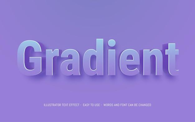 Verloop 3d-tekst bewerkbare stijleffectsjabloon