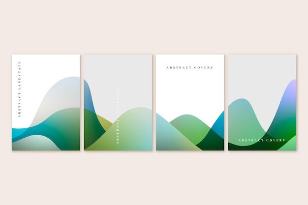 Verloop abstract landschap omvat collectie