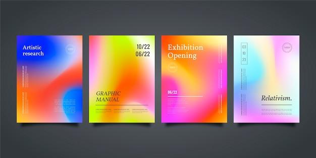 Verloop abstract wazig covers collectie