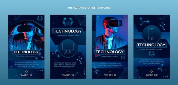 Verloop abstracte technologie instagram-verhalen