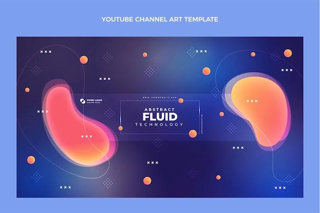 Verloop abstracte vloeistoftechnologie youtube-kanaalafbeeldingen