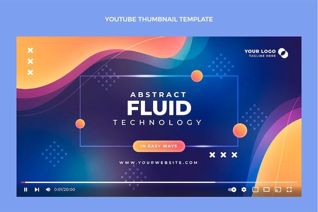 Verloop abstracte vloeistoftechnologie youtube thumbnail