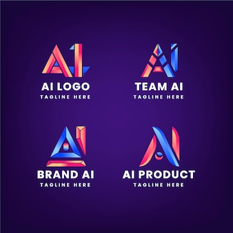 Verloop ai logo sjabloonpakket