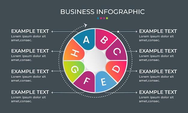 Verloop bedrijfsproces infographic ontwerp