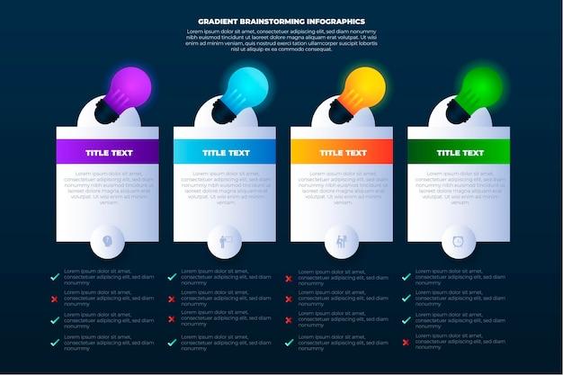 Verloop brainstormen infographics