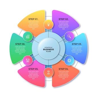 Verloop circulaire diagram infographic sjabloon