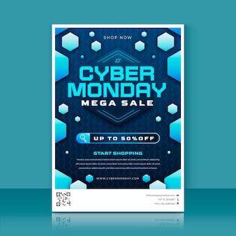 Verloop cyber maandag verticale postersjabloon