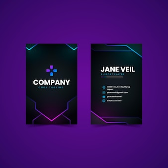 Verloop dubbelzijdig visitekaartje Premium Vector