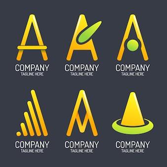 Verloop een verzameling logo-sjablonen