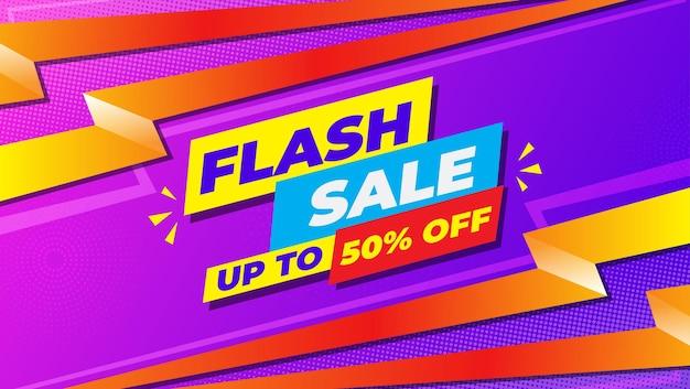 Verloop flash verkoop achtergrond kleurrijke sjabloon