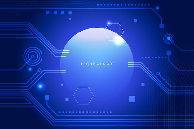 Verloop futuristische blauwe achtergrond