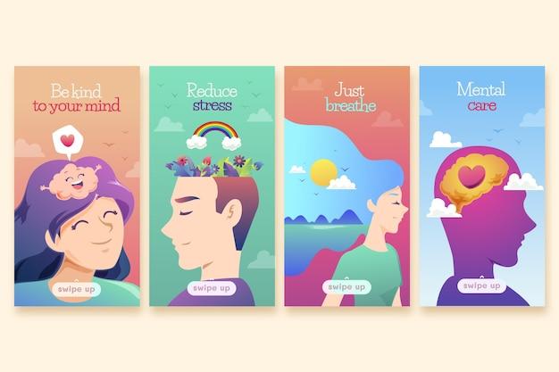 Verloop geestelijke gezondheid instagram verhalen sjabloon