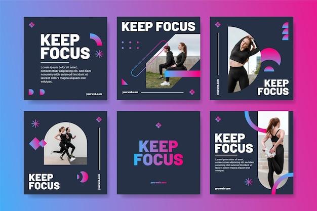 Verloop gezondheids- en fitnesspostverzameling