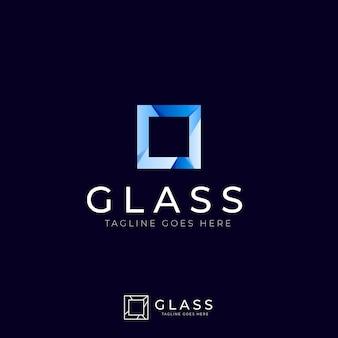 Verloop glas logo sjabloon
