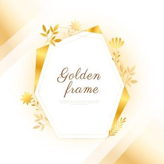 Verloop gouden luxe framesjabloon