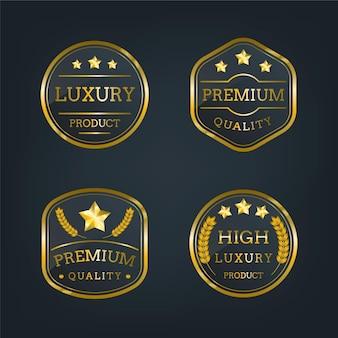 Verloop gouden luxe labels collectie