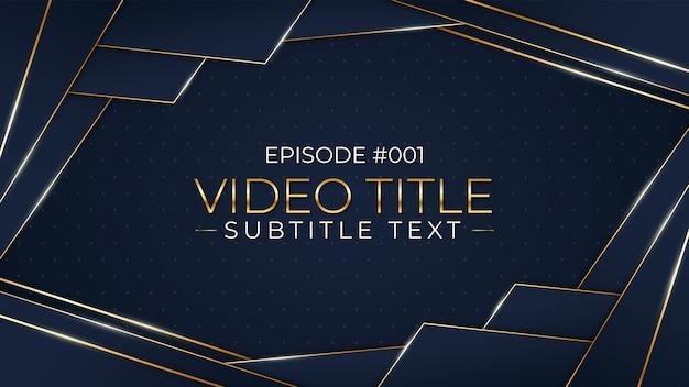 Verloop gouden luxe youtube thumbnail