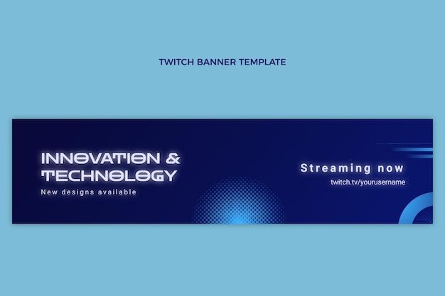 Verloop halftoon technologie twitch banner