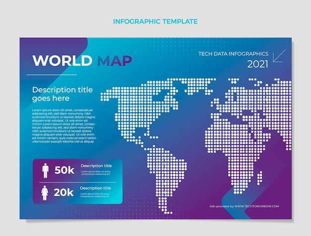 Verloop halftoontechnologie infographic Gratis Vector