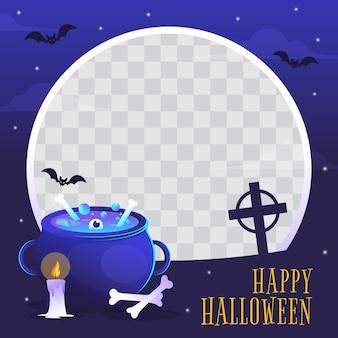 Verloop halloween sociale media framesjabloon