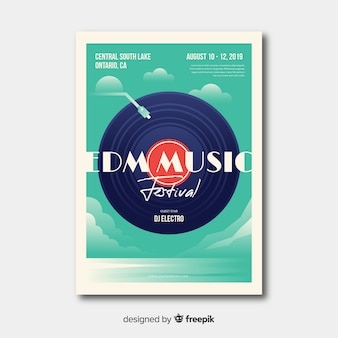 Verloop illustratie muziekfestival poster