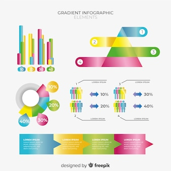 Verloop infographic element collectie