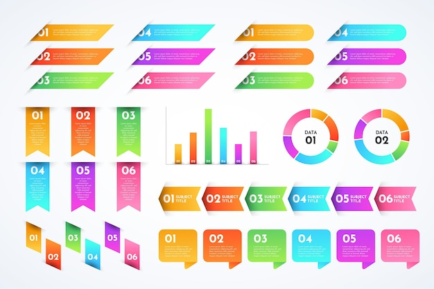 Verloop infographic elementen collectie