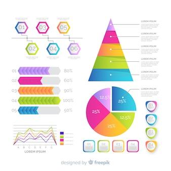 Verloop infographic elementen