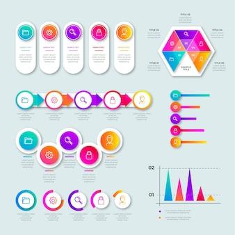 Verloop infographic elementenverzameling