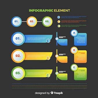 Verloop infographics elementen collectie