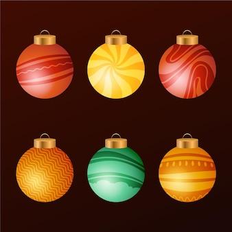 Verloop kerstbal ornamenten collectie