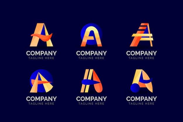 Verloop kleurde een logo-sjablonen