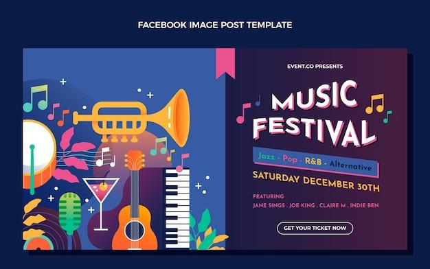 Verloop kleurrijk muziekfestival facebook bericht