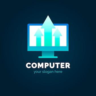 Verloop laptop logo sjabloon