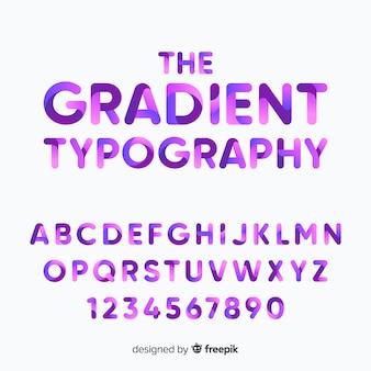 Verloop lettertype sjabloon plat ontwerp