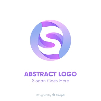 Verloop logo sjabloon met abstracte vorm