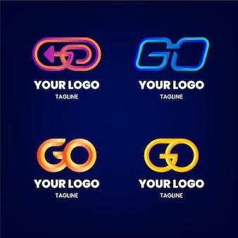 Verloop logo sjabloon set
