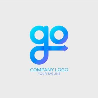 Verloop logo sjabloon