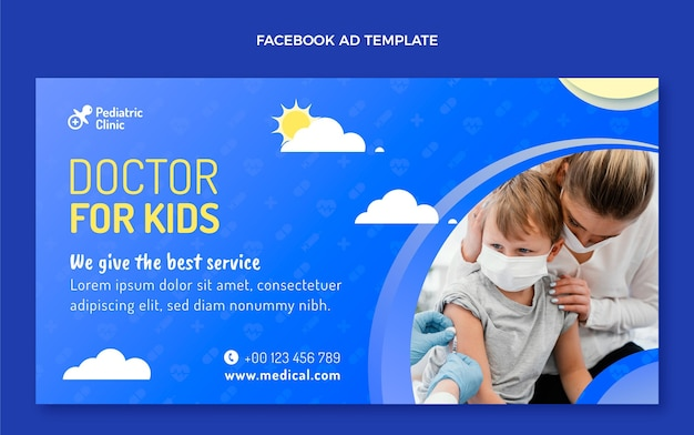 Verloop medische facebook-sjabloon