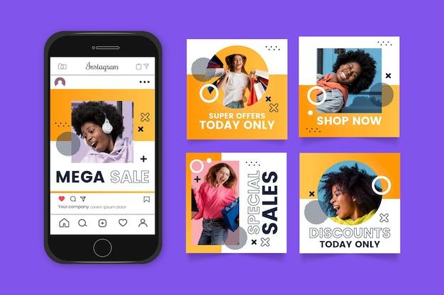 Verloop mega verkoop instagram postverzameling