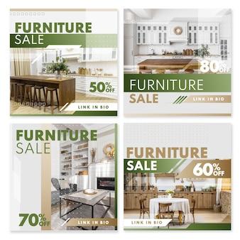 Verloop meubels verkoop instagram post collectie