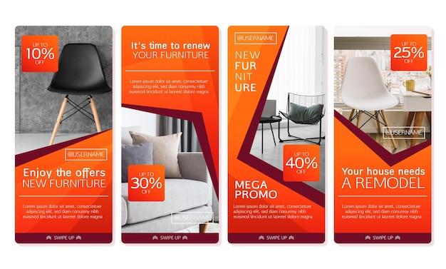 Verloop meubels verkoop instagram verhaalcollectie