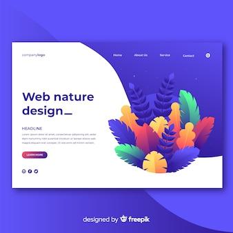 Verloop natuur webdesign