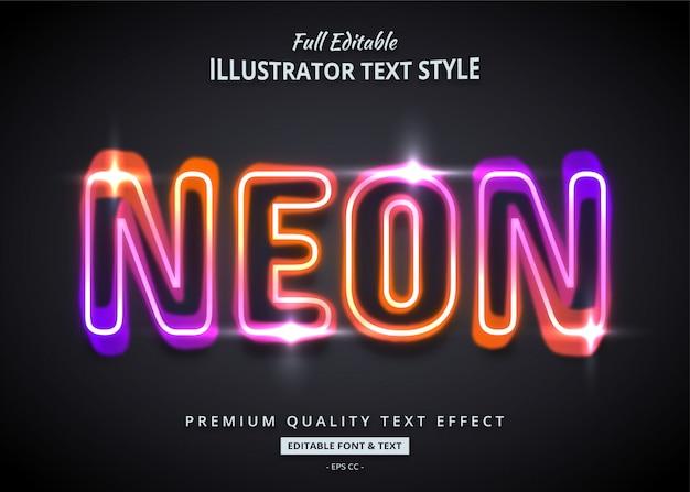 Verloop neon tekst grafische stijl